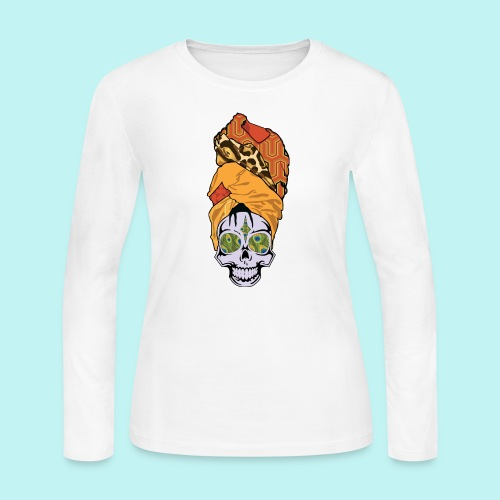 ERYKAH BADU SKULLY - Women's Long Sleeve Jersey T-Shirt
