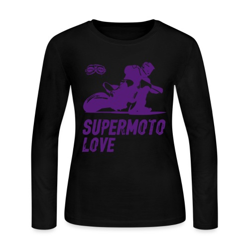 Supermoto Love - Women's Long Sleeve Jersey T-Shirt