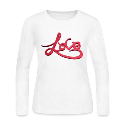 Love Transparent Background - Women's Long Sleeve Jersey T-Shirt