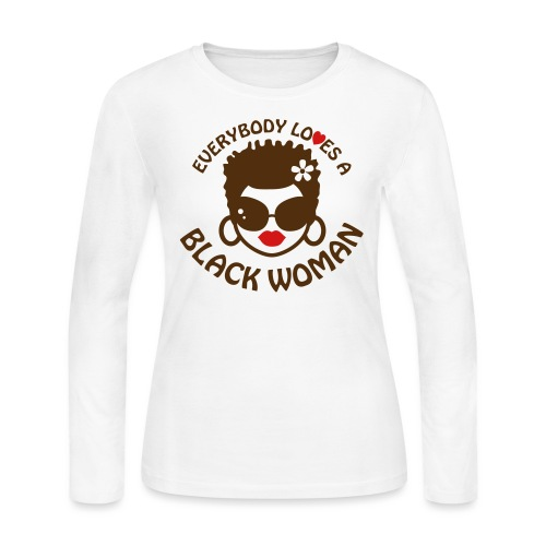Everybody Loves Black Woman 2 - Women's Long Sleeve Jersey T-Shirt