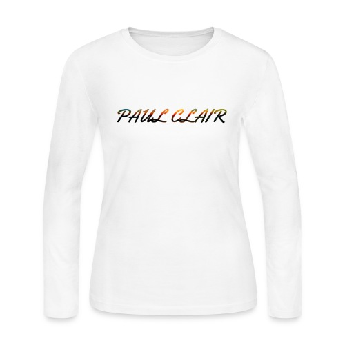 Paul Clair Rainbow Adult Clothing - Women's Long Sleeve Jersey T-Shirt