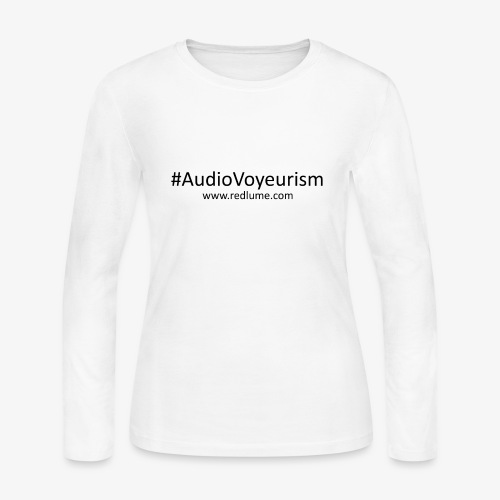 #AudioVoyeurism - Women's Long Sleeve Jersey T-Shirt