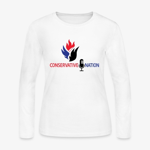 Conservative Nation Double Eagle Collaboration - Women's Long Sleeve Jersey T-Shirt