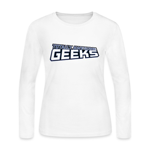 Logo For Totally Awesome Geeks - Women's Long Sleeve Jersey T-Shirt
