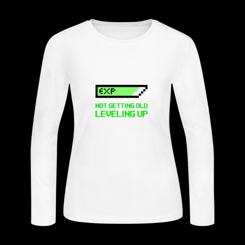 Not Getting Old - Leveling Up - Women's Long Sleeve Jersey T-Shirt