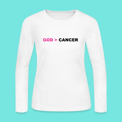 GOD IS GREATER THAN CANCER - Women's Long Sleeve Jersey T-Shirt