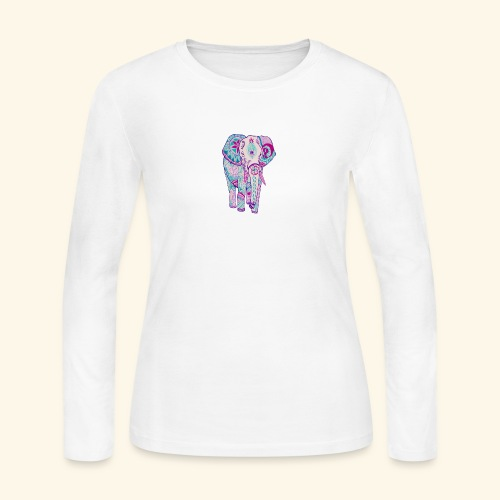 Nice elephant figure - Women's Long Sleeve Jersey T-Shirt