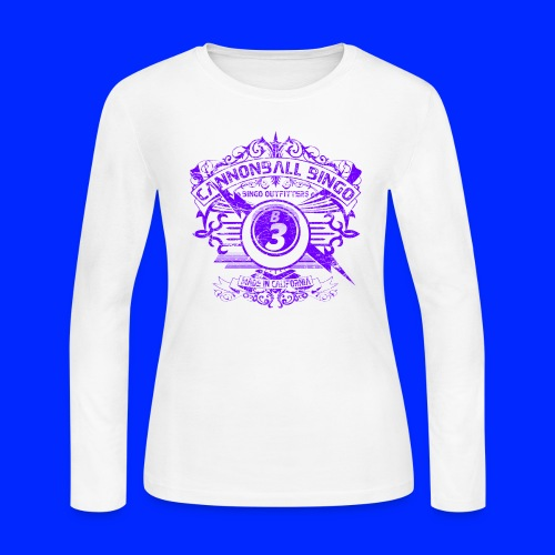 Vintage Cannonball Bingo Crest Purple - Women's Long Sleeve Jersey T-Shirt
