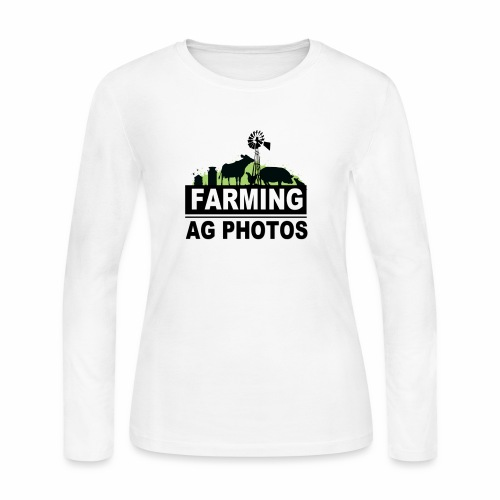 Farming Ag Photos - Women's Long Sleeve Jersey T-Shirt