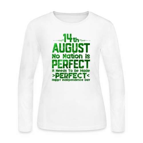 14th August Independence Day - Women's Long Sleeve Jersey T-Shirt