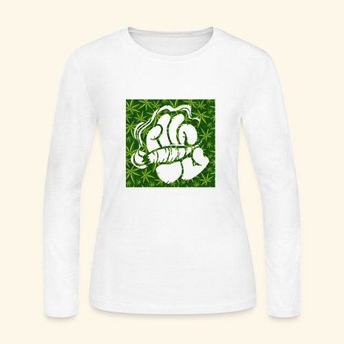Hand with a joint - smoking weed 420 lifestyle - Women's Long Sleeve Jersey T-Shirt