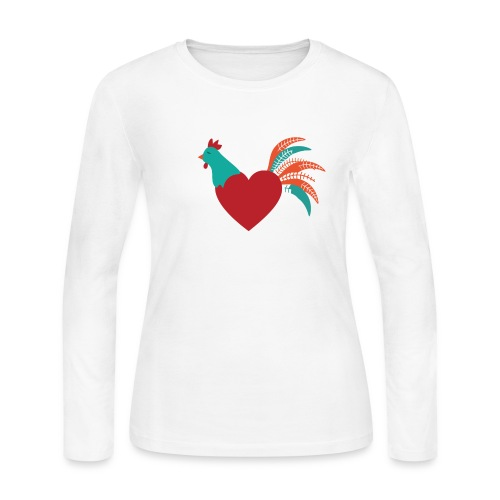 Chicken Heart - Women's Long Sleeve Jersey T-Shirt