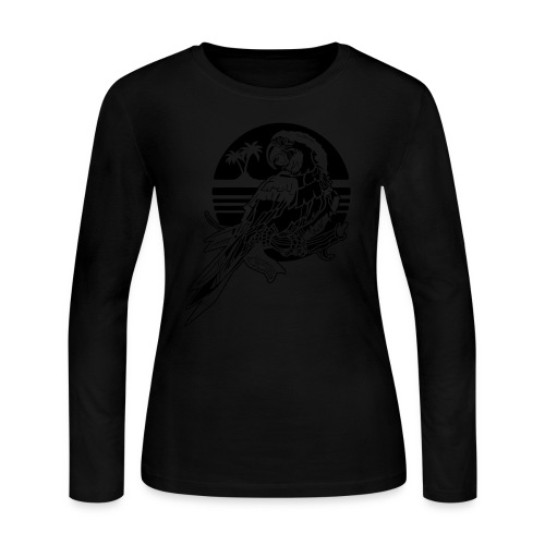 Tropical Parrot - Women's Long Sleeve Jersey T-Shirt