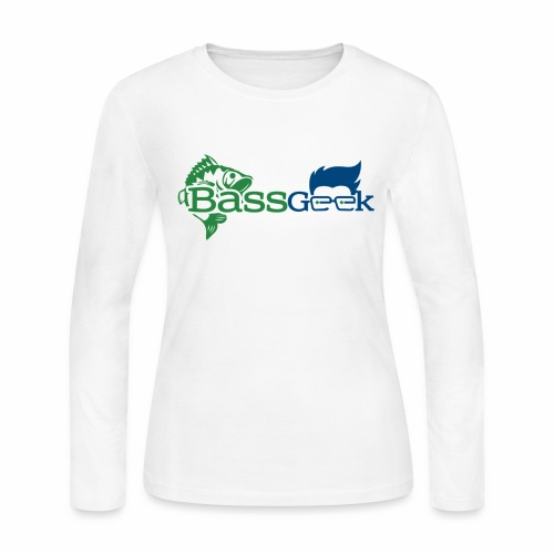BassGeek Logo - Women's Long Sleeve Jersey T-Shirt