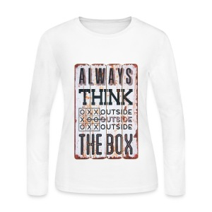 Always think outside the box - Women's Long Sleeve Jersey T-Shirt