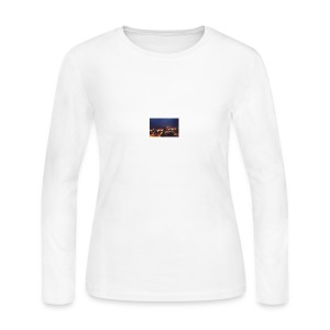 300px-Downtown_Binghamton_at_Night - Women's Long Sleeve Jersey T-Shirt