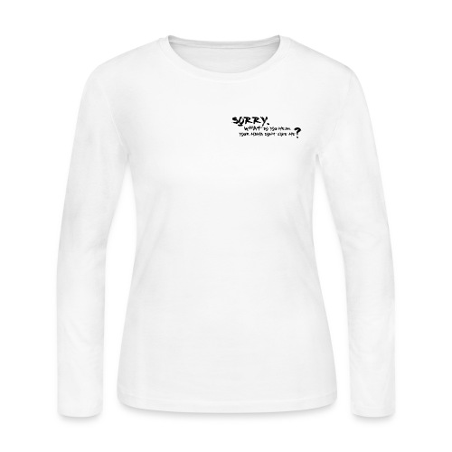 3 Songs on one T-Shirt - Justin Biebers Hit Songs - Women's Long Sleeve Jersey T-Shirt