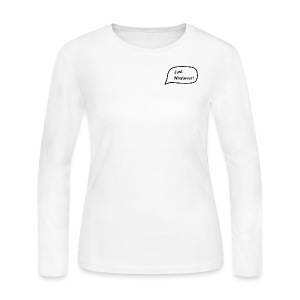Just Whatever Small Logo - Women's Long Sleeve Jersey T-Shirt