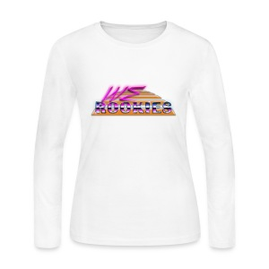 80s we Rookies T shirt design (transparent) - Women's Long Sleeve Jersey T-Shirt