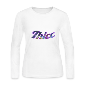 Thicc Galaxy - Women's Long Sleeve Jersey T-Shirt