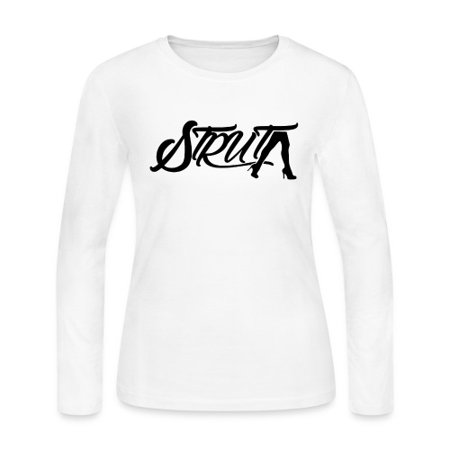 STRUT Logo (with Black Text) - Women's Long Sleeve Jersey T-Shirt