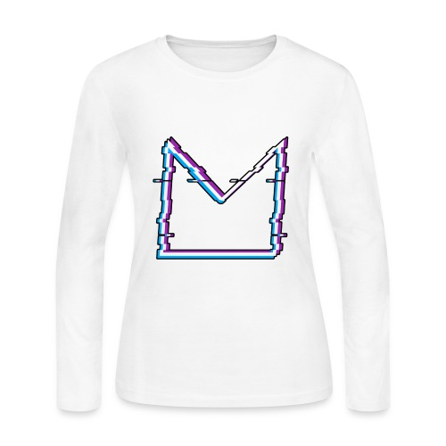 Glitch M//TECH Logo - Women's Long Sleeve Jersey T-Shirt
