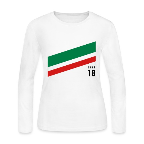 Iran Stipes - Women's Long Sleeve Jersey T-Shirt