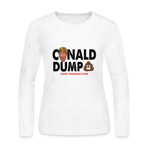Conald Dump Worst President Ever - Women's Long Sleeve Jersey T-Shirt