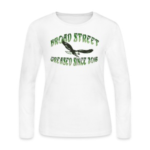 Broad Street Greased - Women's Long Sleeve Jersey T-Shirt