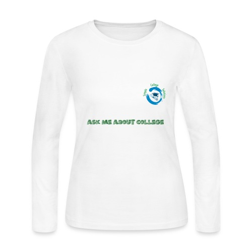 Ask Me About College - Women's Long Sleeve Jersey T-Shirt