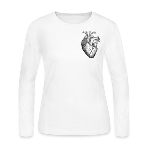 heart of humanity - Women's Long Sleeve Jersey T-Shirt