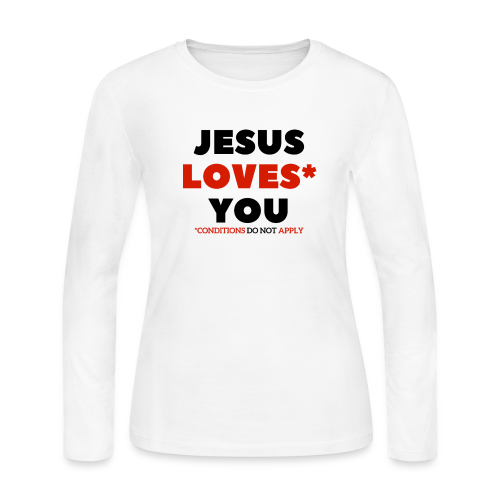 Jesus Love You Tee - Women's Long Sleeve Jersey T-Shirt