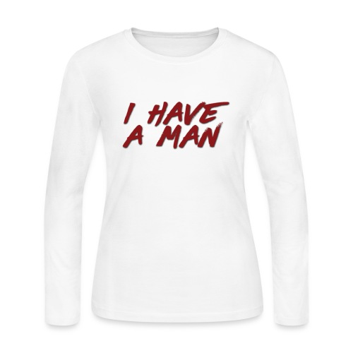I Have A Bae- Man Black Toe 1's - Women's Long Sleeve Jersey T-Shirt