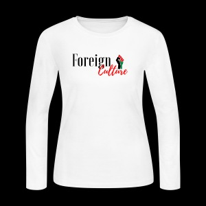 Foreign black letters - Women's Long Sleeve Jersey T-Shirt