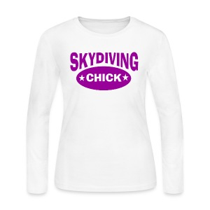 Skydiving chick - Women's Long Sleeve Jersey T-Shirt