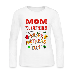 happy mother's day best gift - Women's Long Sleeve Jersey T-Shirt