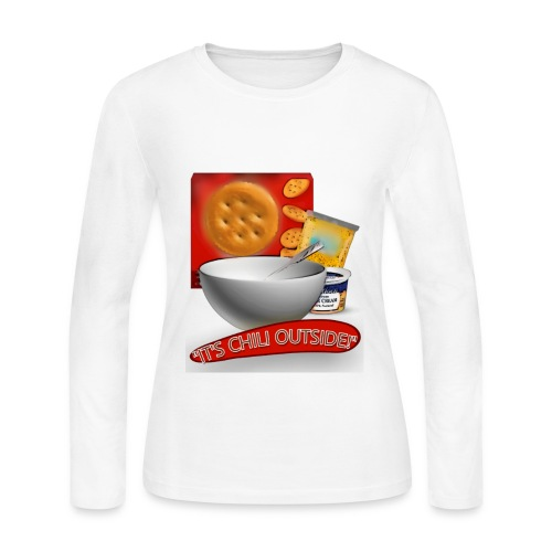 Its Chili Outside merchandise by Haut. - Women's Long Sleeve Jersey T-Shirt