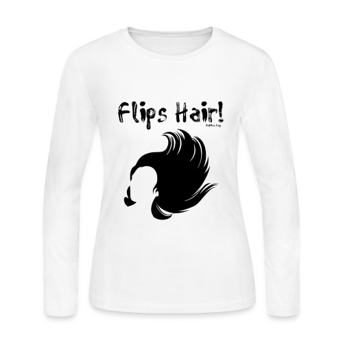 Flips Hair - Women's Long Sleeve Jersey T-Shirt