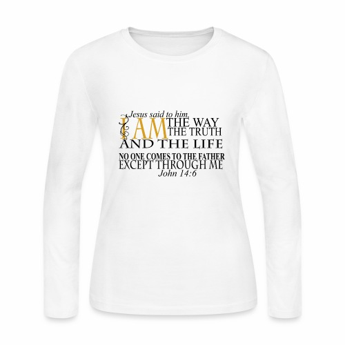 Jesus The Way The Truth The Life - Women's Long Sleeve Jersey T-Shirt