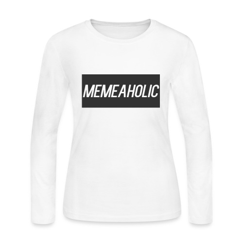 Memeaholic Logo - Women's Long Sleeve Jersey T-Shirt