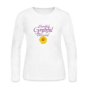 Thankful grateful blessed - Women's Long Sleeve Jersey T-Shirt
