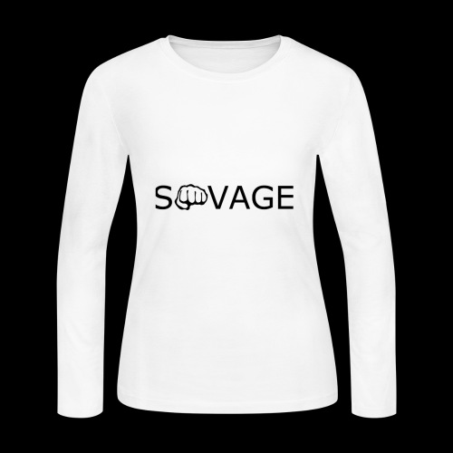 savage black design - Women's Long Sleeve Jersey T-Shirt