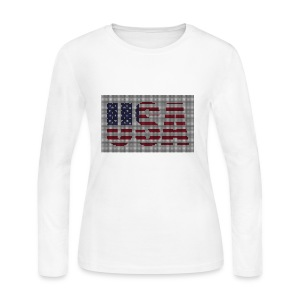 USA - Women's Long Sleeve Jersey T-Shirt