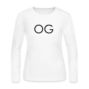 OG design white - Women's Long Sleeve Jersey T-Shirt