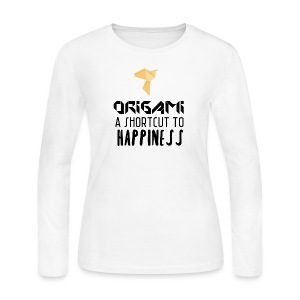 Origami - shortcut to happiness - Women's Long Sleeve Jersey T-Shirt