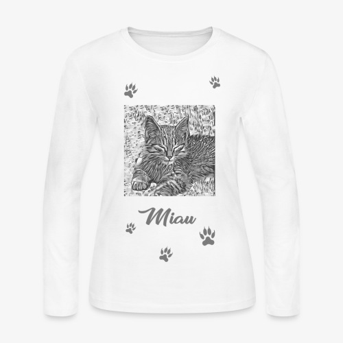 Miau - Women's Long Sleeve Jersey T-Shirt