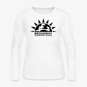 Broadway Elementary Logo - Women's Long Sleeve Jersey T-Shirt
