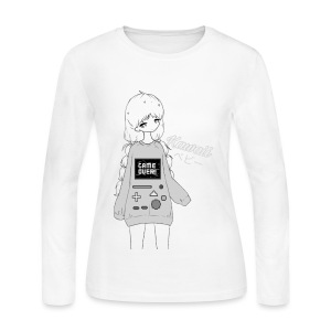 Game Over Kawaii - Women's Long Sleeve Jersey T-Shirt