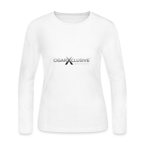 cigarexclusive logo final png - Women's Long Sleeve Jersey T-Shirt