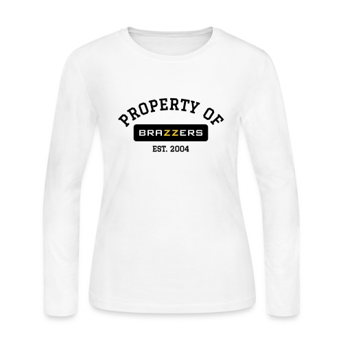 Property of Brazzers logo solid - Women's Long Sleeve Jersey T-Shirt